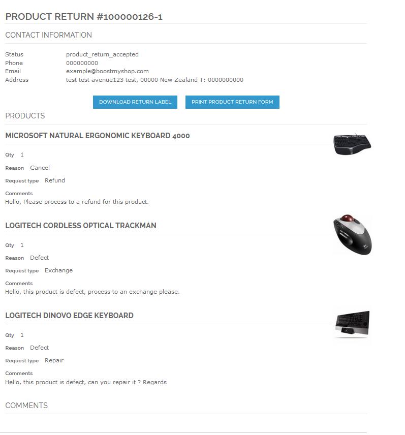 screen magento Product return 4