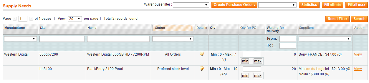 Embedded Erp inventory