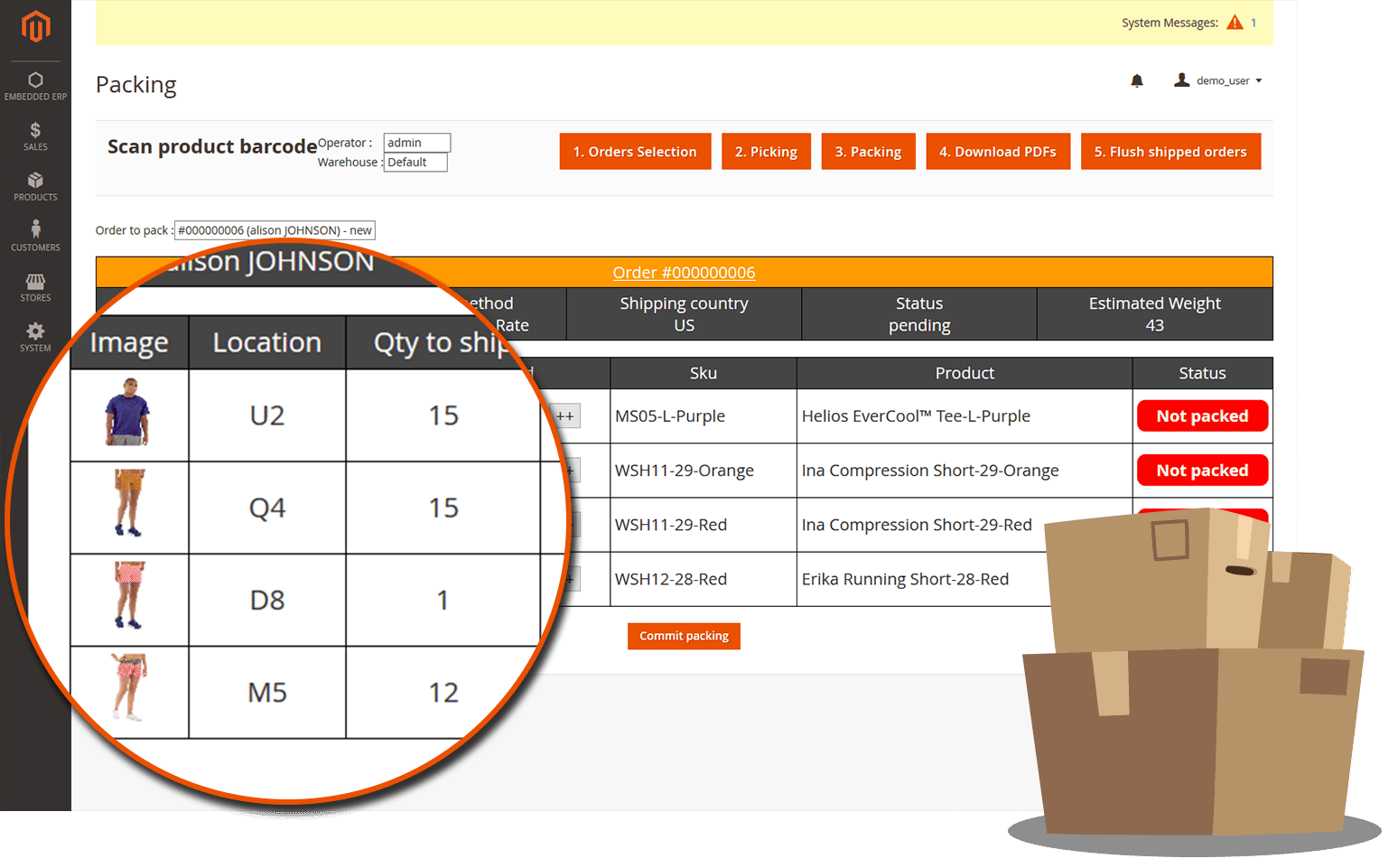 embedded erp magento 2 features product