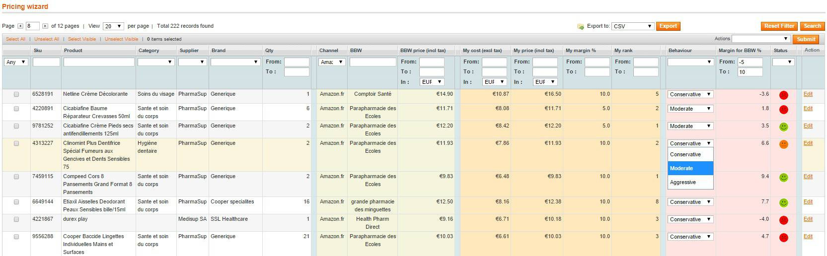 screen Magento smart price tracker 1