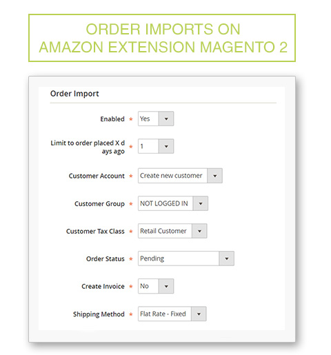 Orders import on Amazon Extension Magento 2