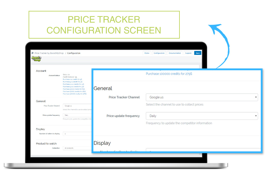 Price Tracker configuration screen